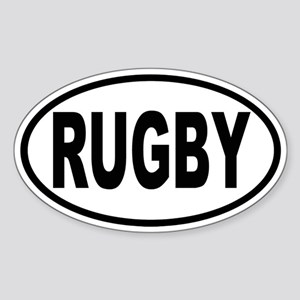 RUGBY Oval Sticker
