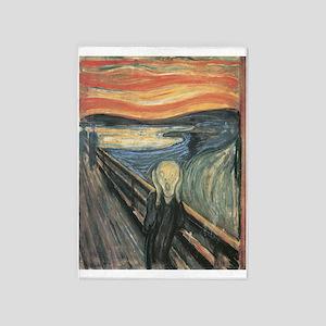 The Scream painting 5'x7'Area Rug