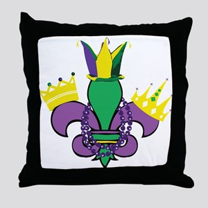 Mardi Gras Party Throw Pillow