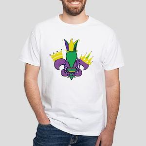 Mardi Gras Party White T-Shirt