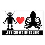 Robot Loves Octopus Sticker