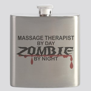 Massage Therapist Zombie Flask