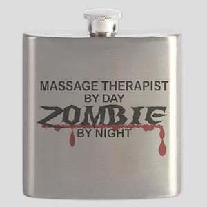 Massage Therapist Zombie Flask