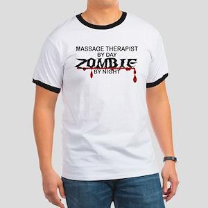 Massage Therapist Zombie Ringer T