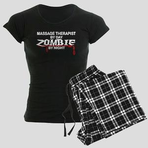Massage Therapist Zombie Women's Dark Pajamas
