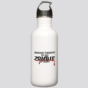 Massage Therapist Zombie Stainless Water Bottle 1.