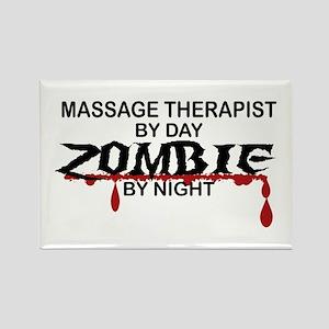 Massage Therapist Zombie Rectangle Magnet