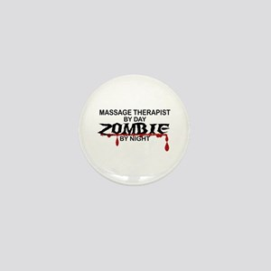 Massage Therapist Zombie Mini Button
