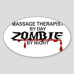 Massage Therapist Zombie Sticker (Oval)