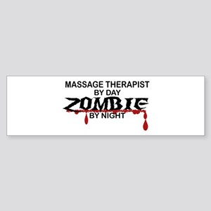 Massage Therapist Zombie Sticker (Bumper)