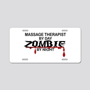 Massage Therapist Zombie Aluminum License Plate