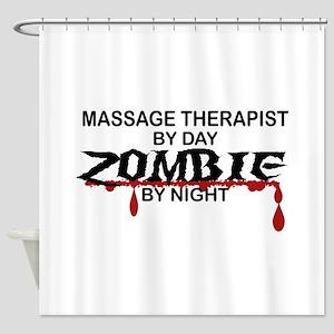 Massage Therapist Zombie Shower Curtain