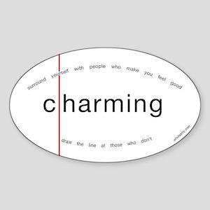 """Charming/Harming"" sticker"