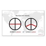 """United in Peace"" sticker"