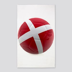 Denmark world cup ball 3'x5' Area Rug