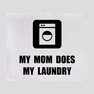 Mom Does Laundry Throw Blanket
