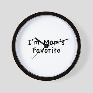 I'm mom's favorite Wall Clock