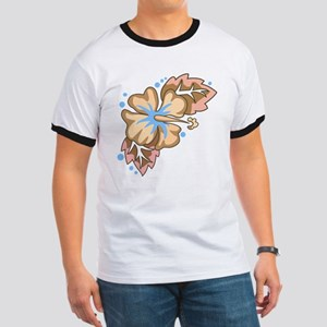 Tropical Flower Ringer T