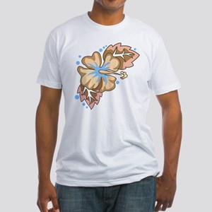 Tropical Flower Fitted T-Shirt