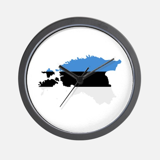 Estonia map flag Wall Clock