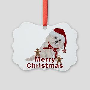 Cockapoo Christmas Picture Ornament