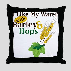 I Like My Water Throw Pillow