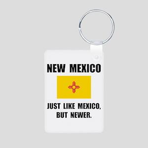 New Mexico Newer Aluminum Photo Keychain