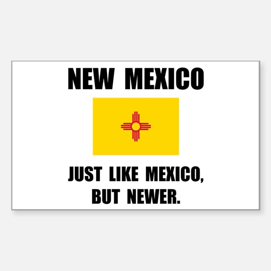 New Mexico Newer Sticker (Rectangle 10 pk)
