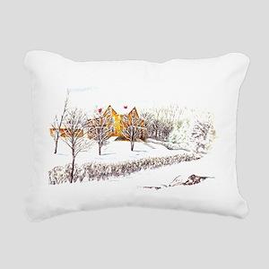farm lg poster Rectangular Canvas Pillow