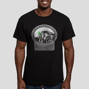 Colorado Spring Cannabis Men's Fitted T-Shirt (dar