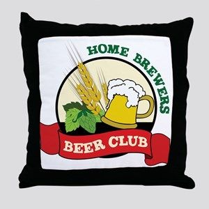 Home Brewers Throw Pillow