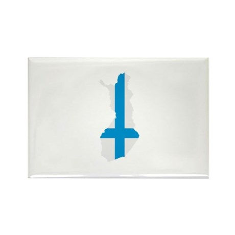 Finland map flag Rectangle Magnet (100 pack)