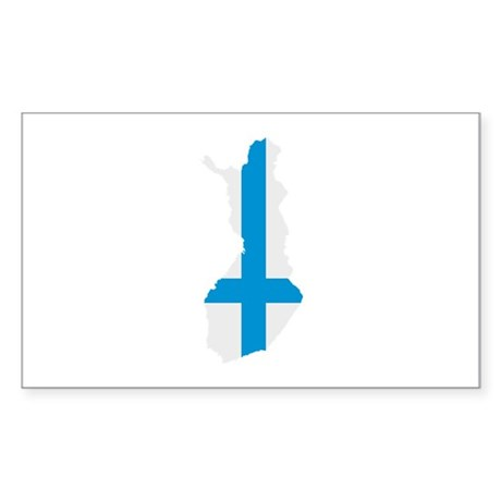 Finland map flag Sticker (Rectangle)
