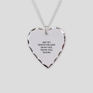 Still Talking Necklace Heart Charm