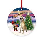 Santa's Take Off & Great Dane (n) Ornament (Round)