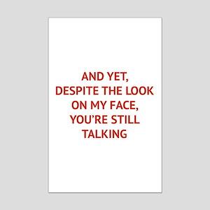 Still Talking Mini Poster Print