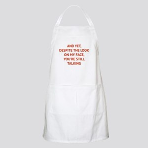 Still Talking Apron