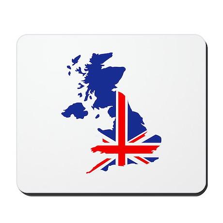 Great Britain UK map flag Mousepad