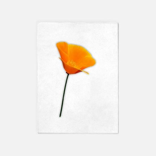 California Poppy 5'x7'Area Rug