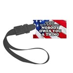 Nobody Owes You A Thing W/ Flag Small Luggage Tag