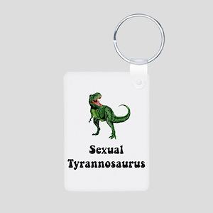 Sexual Tyrannosaurus Aluminum Photo Keychain