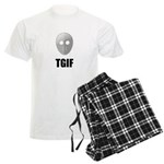 TGIF Jason Hockey Mask Men's Light Pajamas