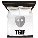 TGIF Jason Hockey Mask King Duvet