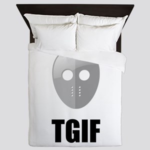 TGIF Jason Hockey Mask Queen Duvet