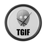 TGIF Jason Hockey Mask Large Wall Clock