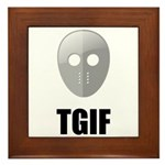TGIF Jason Hockey Mask Framed Tile