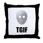 TGIF Jason Hockey Mask Throw Pillow
