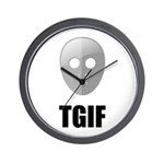 TGIF Jason Hockey Mask Wall Clock