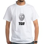 TGIF Jason Hockey Mask White T-Shirt