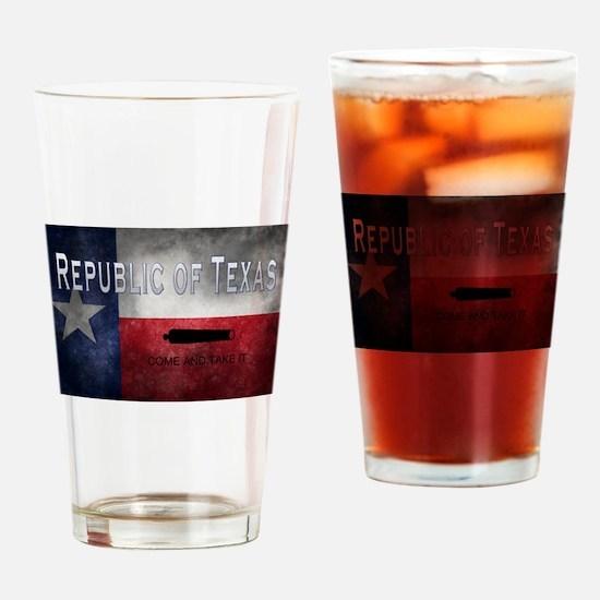Cute Tx Drinking Glass